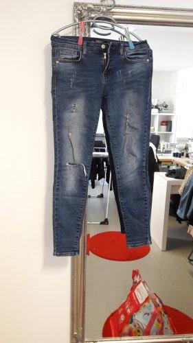 Pantalón elástico azul