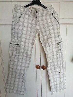 Timezone Pantalon en jersey blanc-gris clair