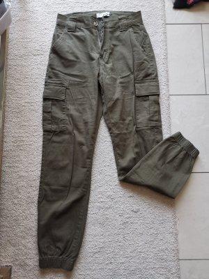 Laulia Spodnie khaki zielono-szary-khaki
