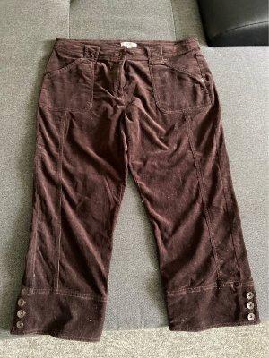 Joy Baggy Pants dark brown-brown red