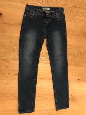 B.S Jeans Pantalon taille basse bleu