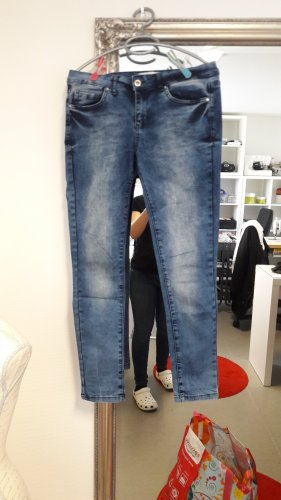 Koton Pantalone a zampa d'elefante bianco-blu