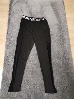 SheIn Spodnie sportowe biały-czarny