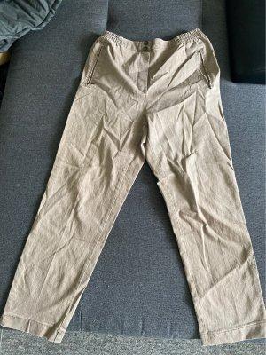 Pantalone largo beige