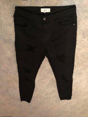 Mango Hoge taille broek zwart
