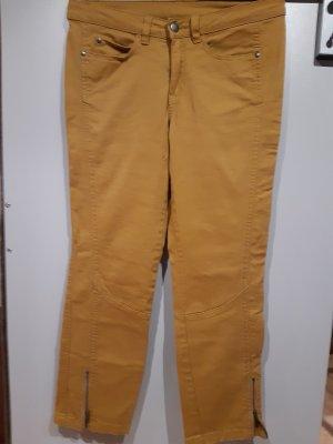 b.c. Pantalone cinque tasche giallo-oro Cotone
