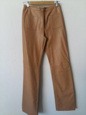 F&Co Pantalón de cuero beige Cuero