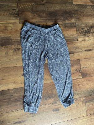 H&M Pantalone alla turca bianco-blu fiordaliso