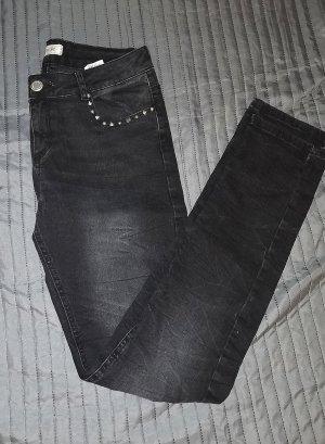 Jeans Weiß Hose Gr. 32 Pimkie XS Röhre Gerade