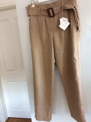 Brunello Cucinelli Pantalone di lino beige