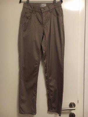 rick cardona Spodnie typu boyfriend szaro-brązowy