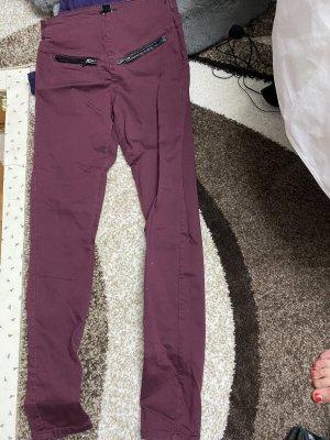 Pantalon taille basse bordeau