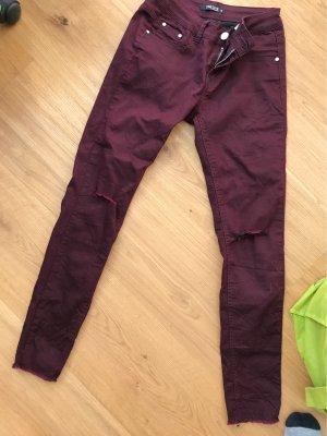 one love Pantalone cinque tasche rosso mora