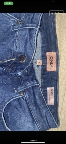 Be only Hoge taille jeans blauw-donkerblauw