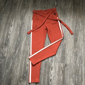 Penn & Ink Pantalón deportivo naranja oscuro-blanco puro