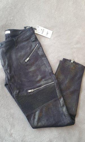 Zara Woman Stretch broek zwart-brons