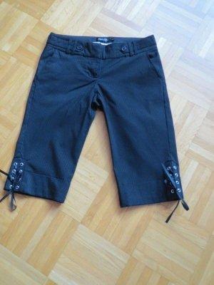 Hose, 3/4 Hose, Gr.34/XS, schwarz-silber