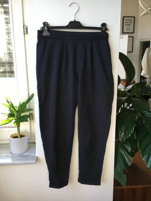 Peg Top Trousers dark blue mixture fibre