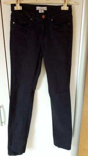 H&M L.O.G.G. Pantalon strech bleu foncé tissu mixte