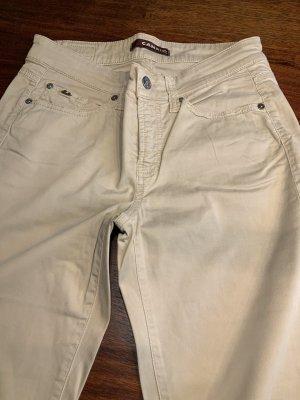 Cambio Jeans Spodnie materiałowe beżowy Bawełna