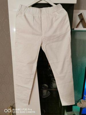 keine Pantalón de tubo blanco