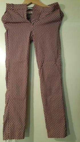 Mango Jersey Pants natural white-dark red