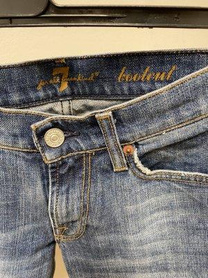 7 For All Mankind Pantalon cigarette bleu