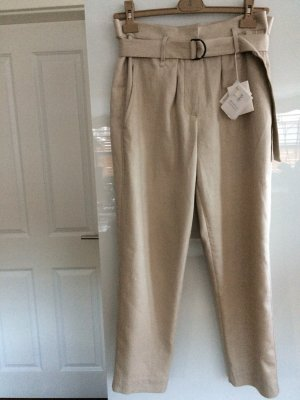 Brunello Cucinelli Pantalone di lino marrone-grigio