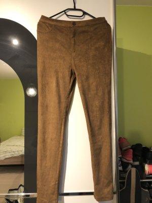 Springfield Pantalón de cuero color bronce