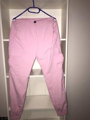 Bershka Pantalon cargo rose