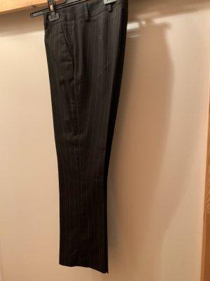 Pantalone di lana nero-blu acciaio