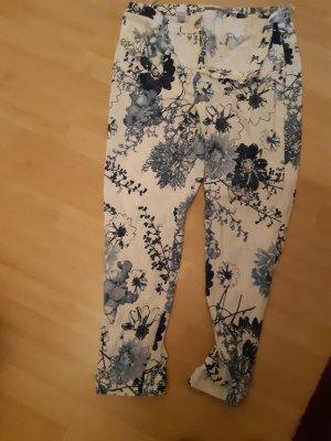 Ashley Brooke Stretch Trousers white-azure
