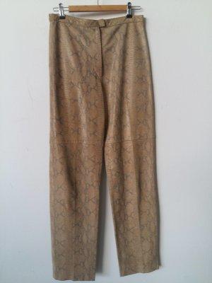 Pantalón de cuero beige Cuero