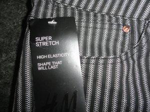 H&M Pantalone a sigaretta nero-bianco