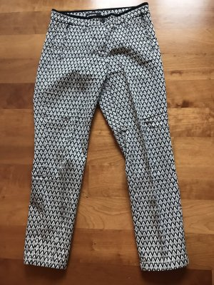 Cambio 7/8 Length Trousers white-black