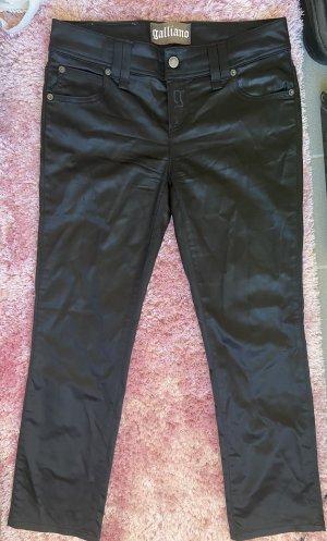 Galliano pantalón de cintura baja negro