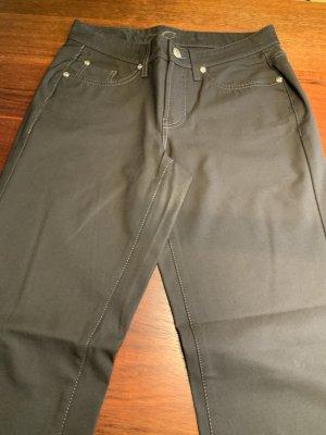 Cambio Jeans Spodnie materiałowe ciemnobrązowy Poliamid