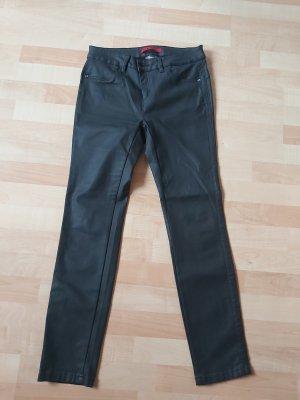 Street One Pantalon en cuir noir