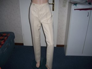 Pantalon en lin beige clair