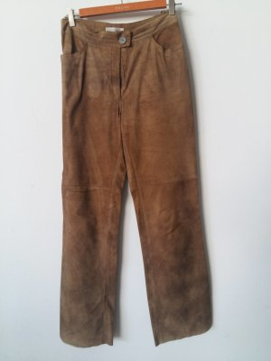Leather Trousers beige leather