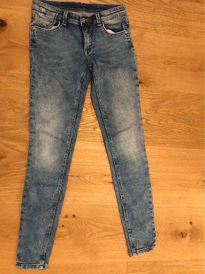 Fb Sisters Pantalon taille basse bleu