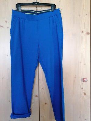 Qiero Pantalone jersey blu-giallo Viscosa