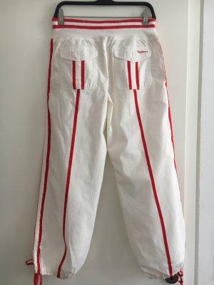 Pepe Jeans London Spodnie Capri biały