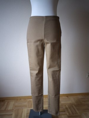H&M Pantalon strech chameau coton