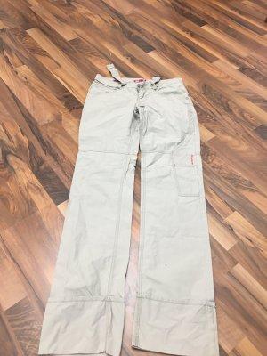 Pantalon boyfriend gris clair-blanc