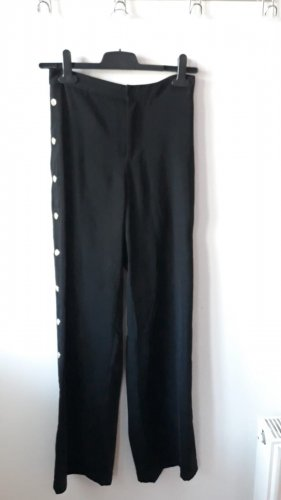 Amisu Falda pantalón de pernera ancha negro-color oro
