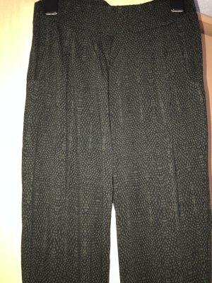 Opus Pantalone alla turca nero-verde scuro Viscosa