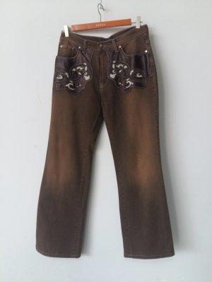 Trussardi Jeans Stretch jeans bruin Katoen