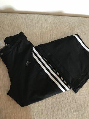 Adidas Spodnie sportowe czarny-biały Poliester