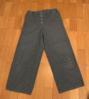 American Vintage Spodnie palazzo szary niebieski Bawełna